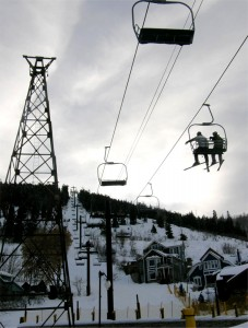 Skiers get a lift to the slopes from downtown Park City, Utah. Cecil Scaglione photo