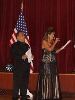 Emcees Ted Lintan and Debbie Nicastro