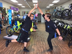 Team Leader Ulyssis and Team Member Matt (photo courtesy: Bicycle Warehouse)