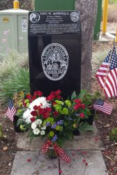 Memorial in the Navy Fed Credit Union parking lot.