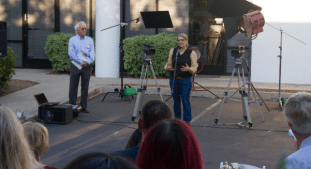 One of the speakers at the event was former Palomar College intern Carly Starr Brullo-Niles. She took the experience she learned at KOCT and had a successful career in Hollywood before returning to Oceanside to start her own video production company.