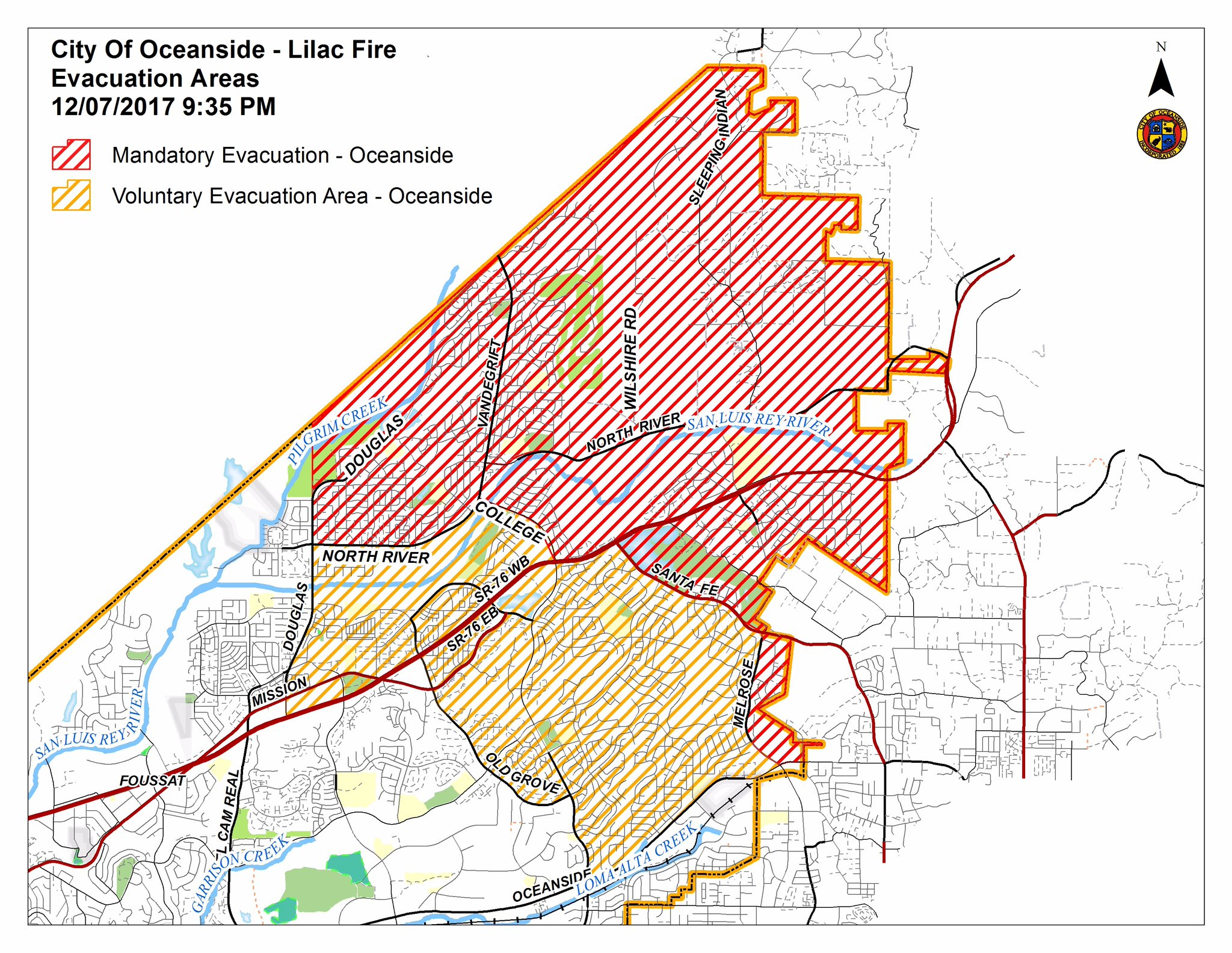 Lilac Fire Update and Fire Perimeter Map   OsideNews