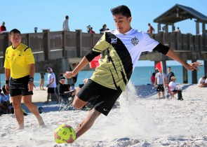 Eiko Rodriguez, one of Legacy's leading goal-scorers, in perfect form at the MBS National Championships in Clearwater Beach, Florida in 2016.
