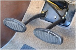 clutch and brake pedal