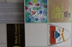 Ceiling tile space is for sale, at the restaurant, with all money going to charity
