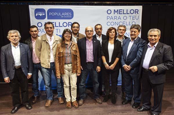 Acto de presentación dos candidatos do PP ás municipais do 2015 na zona da Limia.