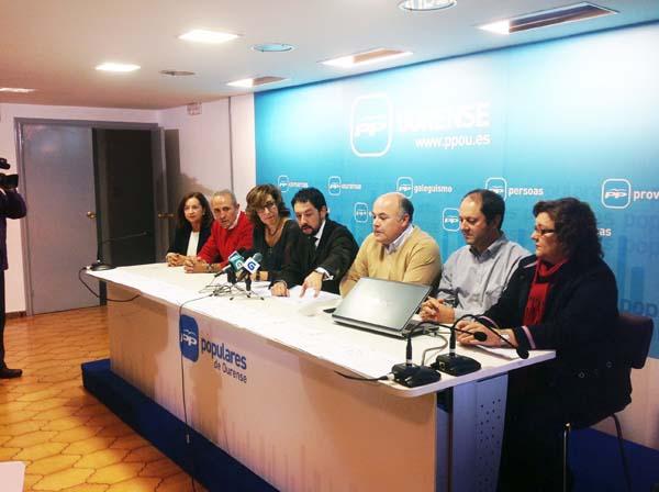 Rolda de prensa do PP do Barco en Ourense.