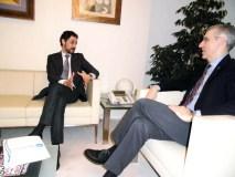 O deputado popular Moisés Blanco reúnese co conselleiro de Economía