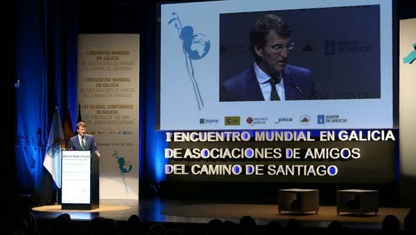 Inauguración do Encontro a cargo do presidente da Xunta, Alberto Núñez Feijóo.