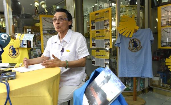 A presidenta da Asociación de Amigos do Camiño de Santiago por Valdeorras, Asunción Arias./ Foto: Carlos G. Hervella.