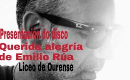 Emilio Rúa presenta o seu novo disco en Ourense