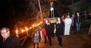 Reavívase a tradicional procesión dos Caracois no Castro