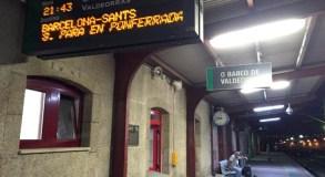 Problemas coa megafonía na estación de ferrocarril do Barco