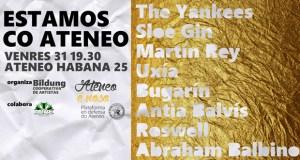 "A plataforma en defensa do Ateneo organiza o concerto ""Estamos co Ateneo"" este venres no local da avenida Habana"