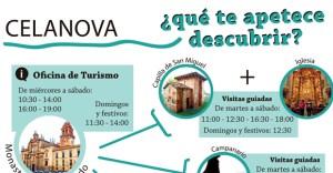 A oficina de turismo de Celanova volve abrir os domingos pola mañá