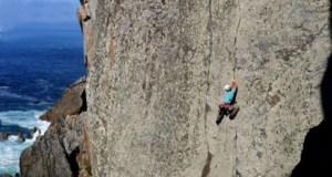 Curso de iniciación á escalada, no Barco