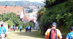 Os peregrinos do Bierzo, Valdeorras e Monforte chegan a Compostela