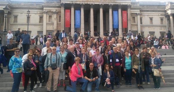 Un grupo de valdeorreses, de viaxe en Londres