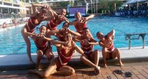 As ourensás, entre as grandes da natación sincronizada de España