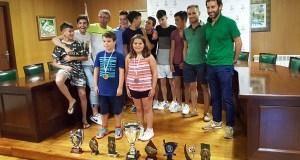 Recepción no Concello de Trives aos mellores deportistas das súas escolas municipais