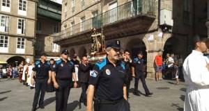 A Policía Local de Ourense sae en procesión co seu patrón San Roque