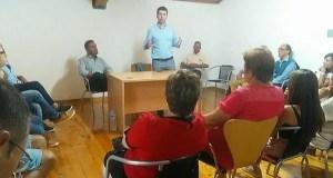 Gonzalo Caballero reúnese cos socialistas vianeses