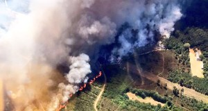Extinguido o incendio forestal en Garabás (Maside)