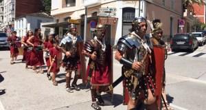 As lexións romanas desfilan por Qui-Roma