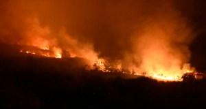Viana loita para evitar que o lume chegue ata Fornelos de Filloás