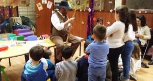 O Pandigueiro visita aos nenos e nenas de Manzaneda