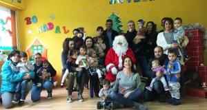 Papá Noel reúnese cos nenos de Sober