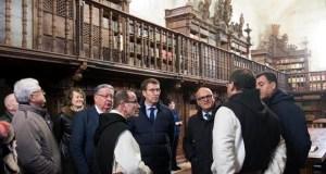 """Feijóo resalta que a rehabilitación do Mosteiro de Oseira é """"unha aposta"""" para o Xacobeo 2021"""