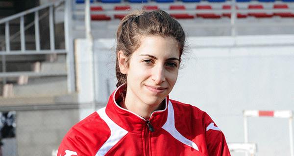 A saltadora valdeorresa Leticia Gil, quinta no campionato de España absoluto