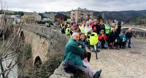Membros da Asociación Camiños a Santiago pola Ribeira Sacra percorren Valdeorras