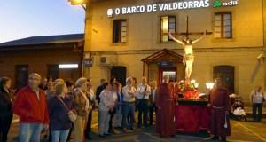 Procesión do Cristo dos Ferroviarios o Mércores Santo, no Barco