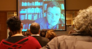 A videoconferencia con Díez de Velasco pecha o ciclo sobre termalismo na Biblioteca de Verín
