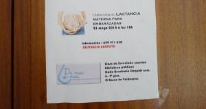 Charla sobre a preparación á lactancia materna, o 23 de maio no Barco