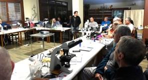 O experto Ibai Olariaga, na 9ª Xuntanza de Microscopía Micolóxica na Veiga