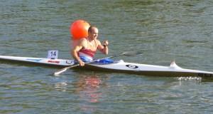 Jesús Rodríguez (Fluvial Barco) imponse en K-1 sénior na Baixada do Umia