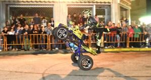Paulo Martinho conquista ao público na concentración mototurística Os Esquíos de Trives 2018