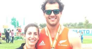 Os atletas Carlos Revuelta, Leticia Gil e Eva Arias, bazas valdeorresas no campionato de España absoluto