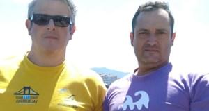 Dous valdeorreses, entre os case mil participantes no Descenso a nado da ría de Navia