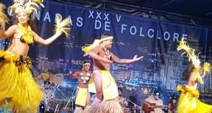 Os bailes de Colombia, Tahití e Ucraína conquistan ao público trivés