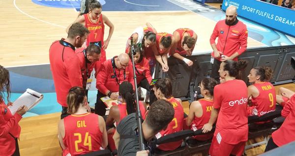 A selección española de Mondelo debuta con vitoria ante Xapón na Copa do Mundo de básket feminino