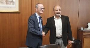 Reunión do presidente da Confederación Hidrográfica Miño-Sil co alcalde de Ourense