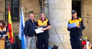 O trivés Miguel García, recoñecido polos seus 25 anos en Protección Civil
