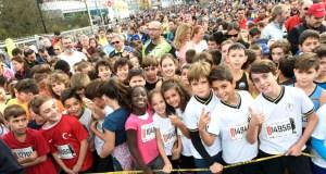 Miles de cativos corren na carreira pedestre popular de Ourense