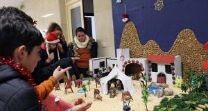 Un orixinal belén realizado polos alumnos dá a benvida ao Nadal no Colexio Plurilingüe Divina Pastora