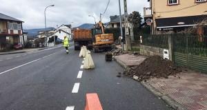 Obras de abastecemento, saneamento e beirarrúas na zona de A Costa, na Rúa