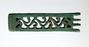 """A placa de cinto de Santomé, """"Peza do Mes"""" número 200 no Museo Arqueolóxico de Ourense"""